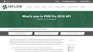 What's new in PDM Pro 2018 API | InFlow