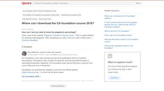 Where can I download the CA foundation course 2018? - Quora