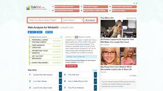 Winbet33 Web Analysis - CuteStat.com