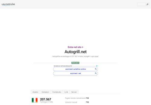 www.Autogrill.net - Autogrill - Login page - Urlm.it