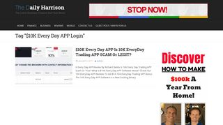 10K Every Day APP Login - The Daily Harrison