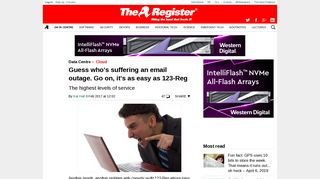 Guess who's suffering an email outage. Go on, it's as easy as 123-Reg ...