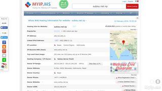 Subisu.net.np - 202.63.240.21, Subisu Server Pool3 Po Box: 6626 ...