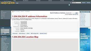 1.254.254.254 IP Address Location | SG IP network tools - SpeedGuide