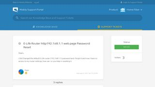 E-Life Router http192.168.1.1 web page Password Reset ... - Mobily