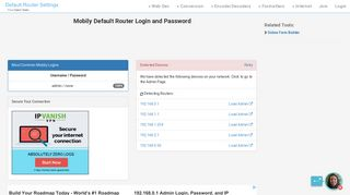 Mobily Default Router Login and Password - Clean CSS