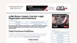 1xBet Bonus, Games, Live betting, Login and Predictions - Kenya