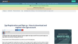 2go Registration and Sign up - How to download and register new 2go ...