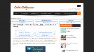 2go Sign Up Account | Create A 2go Account | 2go Login - ONLINE ...