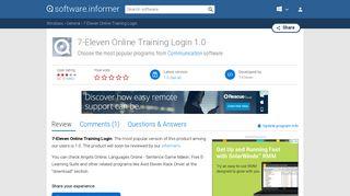 7-Eleven Online Training Login - 7-Eleven Software Informer.