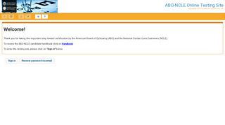 ABO-NCLE Online Testing Site - TesTrac Online