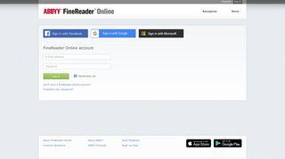log in - ABBYY FineReader Online