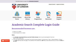 Academic Search Complete Login Guide | The Online Library