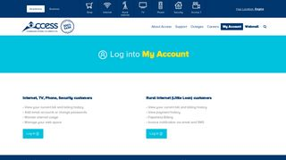 Log In | My Account | Access Communications