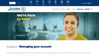 Access Communications - Managing your account
