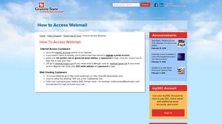 How to Access Webmail - Granite State Communications