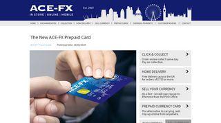 The New ACE-FX Prepaid Card
