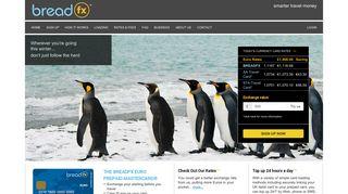 BreadFX™ Prepaid Mastercard® Prepaid Card Home Page -
