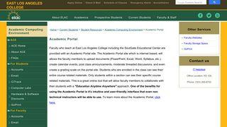 Academic Portal - East Los Angeles College