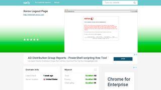 webmail.xerox.com - Xerox Logout Page - Webmail Xerox - Sur.ly