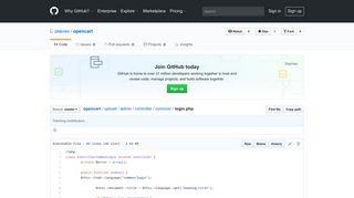 opencart/login.php at master · zeevex/opencart · GitHub