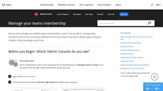 Manage your teams membership - Adobe Help Center