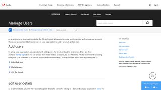 Manage Users - Adobe Help Center