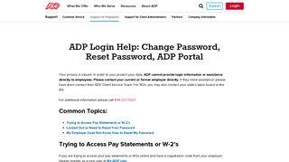 ADP Login Help - ADP.com
