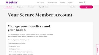 Your Secure Member Account | Aetna