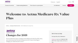 Aetna Medicare Rx Value Plus | Aetna Coventry Medicare