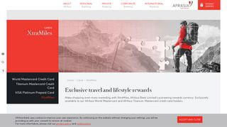 XtraMiles - AfrAsia Bank Mauritius