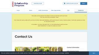 Contact Us - AGBU Scholarship