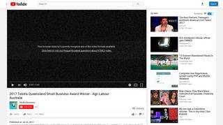 2017 Telstra Queensland Small Business Award Winner - Agri Labour ...
