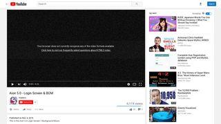 Aion 5.0 - Login Screen & BGM - YouTube