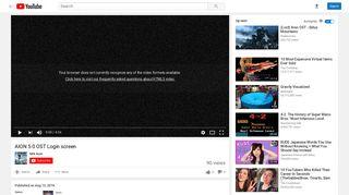 AION 5 0 OST Login screen - YouTube