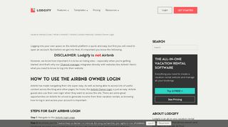 Using the Airbnb Owner Login Section - Lodgify