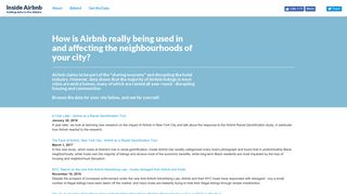 Inside Airbnb. Adding Data to the Debate.