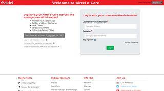 Login - Airtel e-Care - Robi e-Care