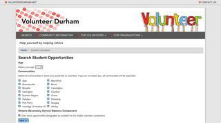 Student Volunteers - Information Durham