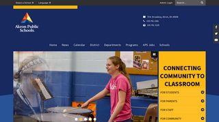 Akron Public Schools: Home