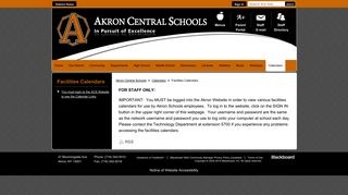 Facilities Calendars / You must login to the ACS Website to see the ...