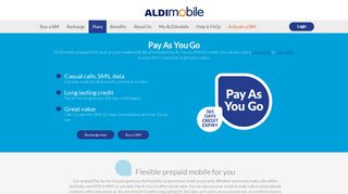 ALDImobile - Pay As You Go prepaid mobile plans