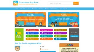 Alef Ba Arabic Alphabet Kids Review | Educational App Store