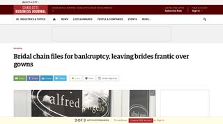 Alfred Angelo Bridal files for bankruptcy, abruptly shutters dozens of ...