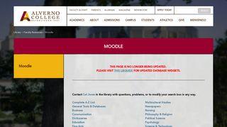 Moodle - Alverno College   Alverno College
