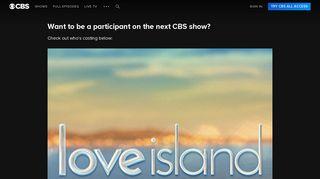 CBS Casting - CBS.com