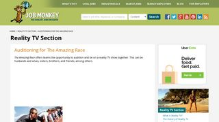 The Amazing Race Auditions - Casting Process Info for Amazing Race