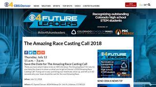 The Amazing Race Casting Call 2018 – CBS Denver