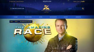 The Amazing Race Auditions | Spirit Mountain Casino