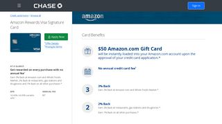 Amazon Credit Card - Retail and Store Credit Cards | Chase.com